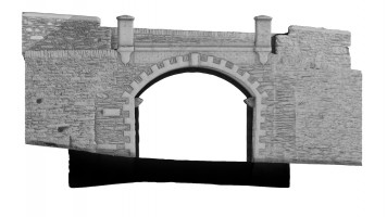 Front elevation of Castle Gate, Derry City Walls