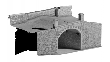 Front isometric view 1 of Castle Gate, Derry City Walls