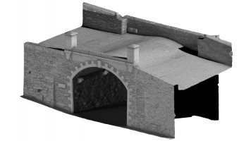 Front isometric view 2 of Castle Gate, Derry City Walls