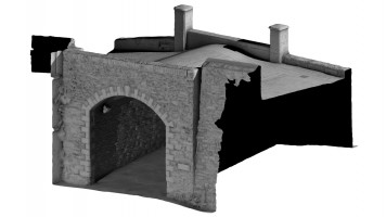 Rear isometric view 2 of Castle Gate, Derry City Walls