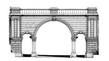 Front elevation view of Ferryquay Gate, Derry City Walls