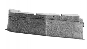 Front elevation of New Gate Bastion, Derry City Walls
