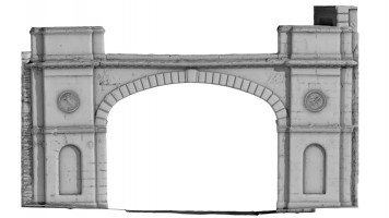 Front elevation of Shipquay Gate, Derry City Walls