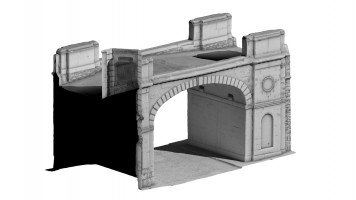 Front isometric view 1 of Shipquay Gate, Derry City Walls