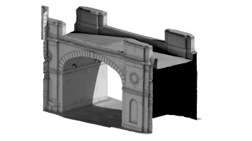 Front isometric view 2 of Shipquay Gate, Derry City Walls