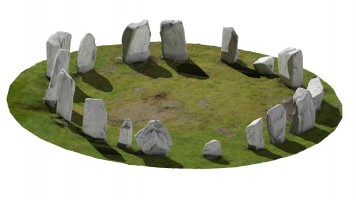 Perspective view 1 of Drombeg Stone Circle, Co. Cork