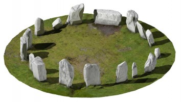 Perspective view 2 of Drombeg Stone Circle, Co. Cork