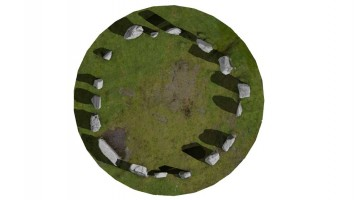 Plan view of Drombeg Stone Circle, Co. Cork