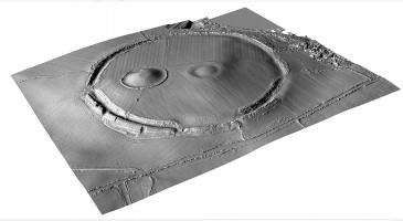 Perspective view 1 of digital terrain model (DTM) of Navan Fort, County Armagh