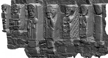 Perspective view 1 of early Christian figures at White Island, Co. Fermanagh