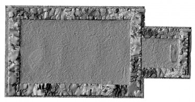Plan of 3D model of Reefert Church, Glendalough