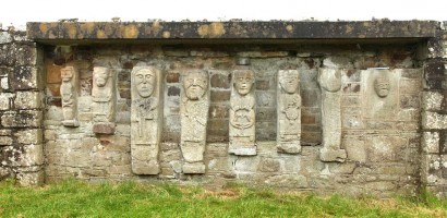 Photograph of Christian figures at White Island, Co. Fermanagh