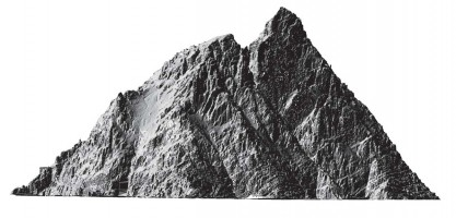 Elevation view 1 of digital terrain model (DTM) of Skellig Michael, Co. Kerry