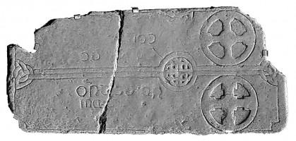 Cross slab 2, Glendalough