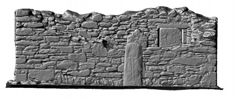 Elevation of shaded 3d mdoel of the Priest's House, Glendalough