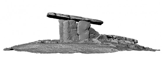 Side elevation 2 of Poulnabrone portal tomb, Co. Clare