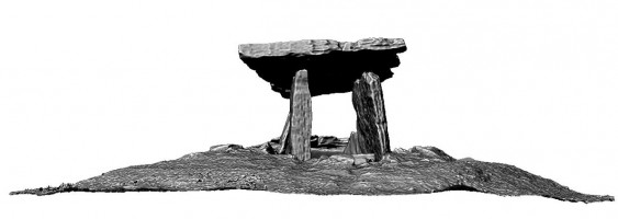 Rear elevation of Poulnabrone portal tomb, Co. Clare