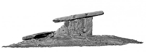 Side elevation 1 of Poulnabrone portal tomb, Co. Clare