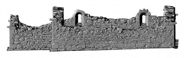 Elevation side 3 of 3D model of Reefert Church, Glendalough