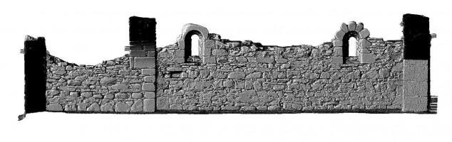 Elevation side 4 of 3D model of Reefert Church, Glendalough