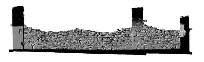 Elevation side 2 of 3D model of Reefert Church, Glendalough