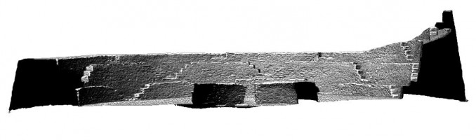 Front elevation section view of Cahergal Stone Fort, Kerry