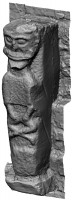 Perspective view 2 of early Christian figure 1 at White Island,Co. Fermanagh