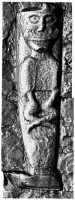 Front view of early Christian figure 1 at White Island,Co. Fermanagh