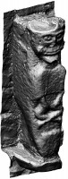 Perspective view 1 of early Christian figure 1 at White Island,Co. Fermanagh