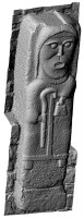 Perspective view 1 of early Christian figure 3 at White Island,Co. Fermanagh