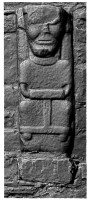 Front view of early Christian figure 2 at White Island,Co. Fermanagh